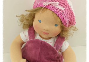 "16"" Sculpted face baby doll"