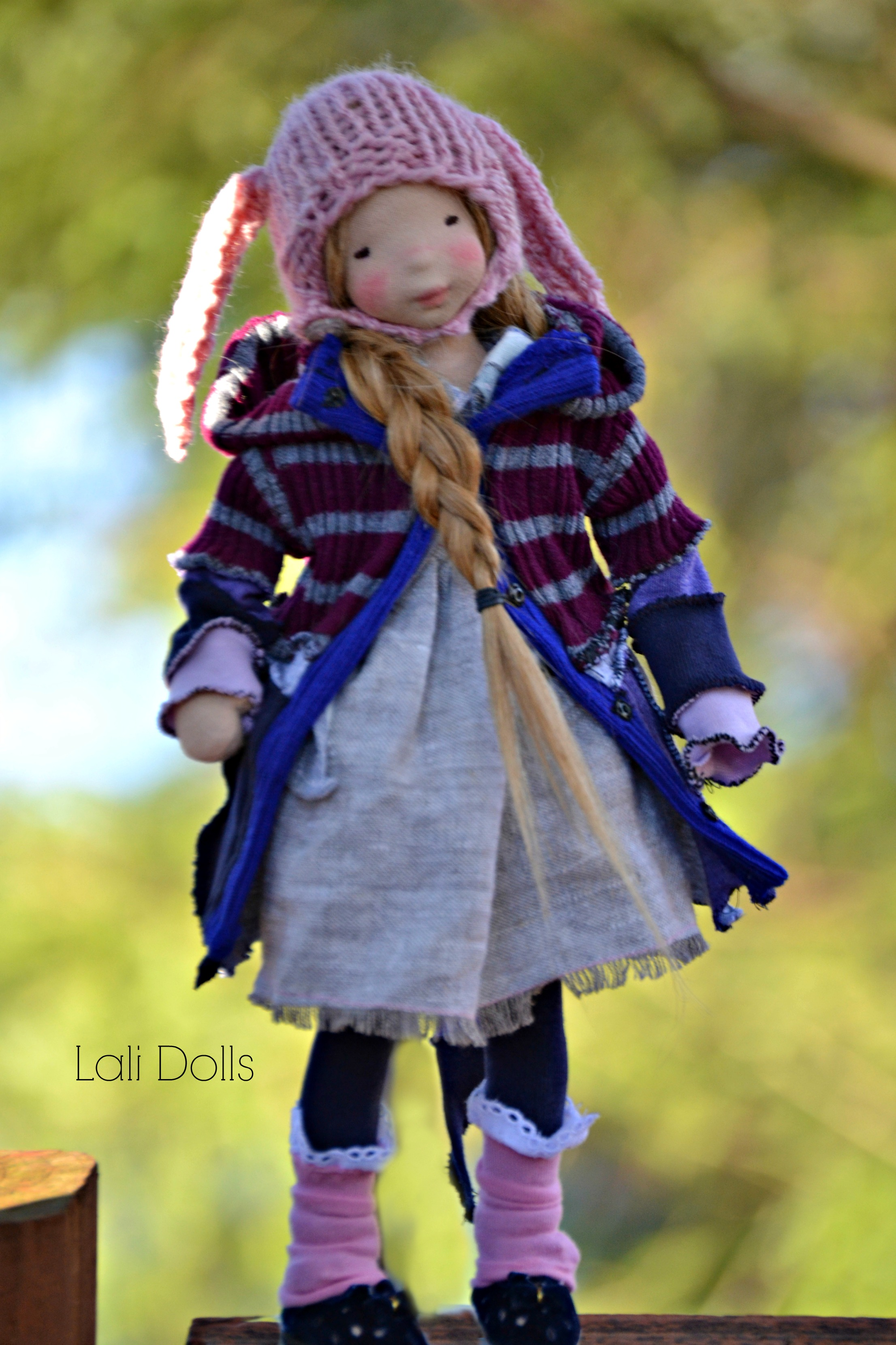 "Dayle 12"" natural fiber art doll"